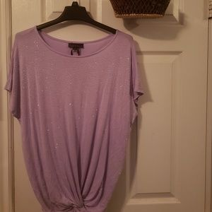 i Jean's by Buffalo purple top with silver sequin